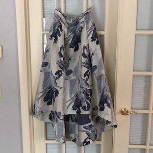 Eliza J Floral Brocade high/low skirt